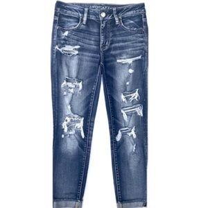 American Eagle Super Stretch Jegging Crop Jeans